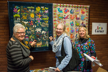 Author Sue Spargo shares some of her quilting tips with BBF attendees.
