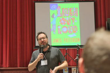 Illustrator Jeffrey Ebbeler gives a program on his books.