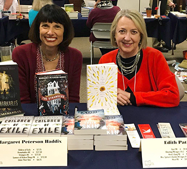 Authors Margaret Peterson Haddix and Edith Pattou