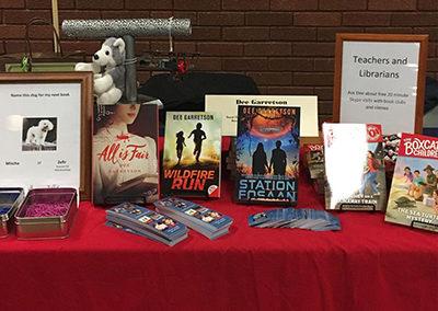 Author Dee Garretson's table