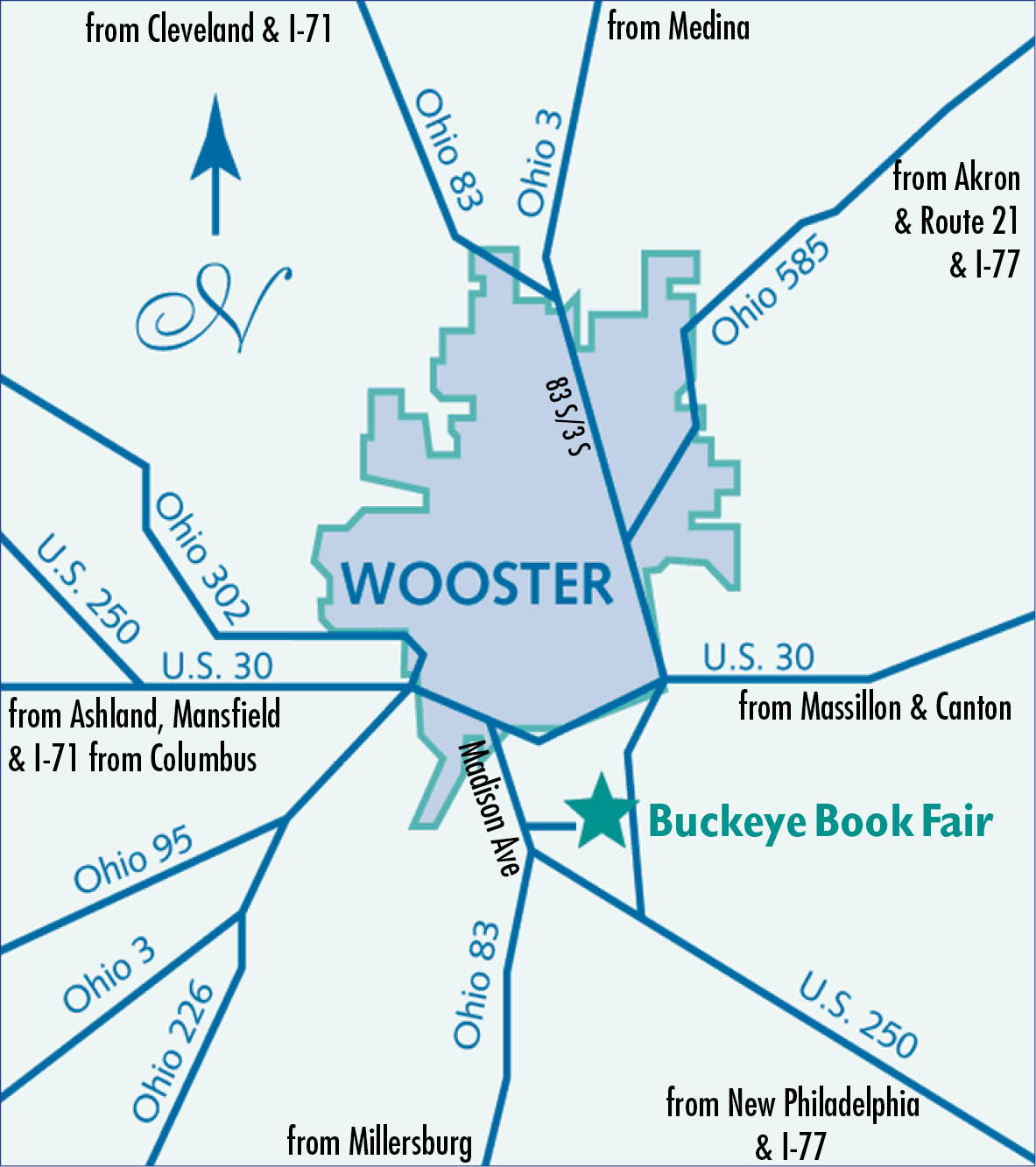 Wooster Map