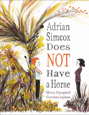 book cover Adrain Simcox Does Not a Horse